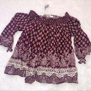 Whisper cold shoulder paisley print blouse